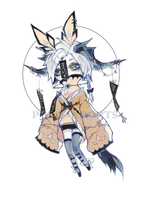 [CLOSED] Adopt set price - Wind Chime Demon by Polis-adopts