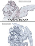 [Closed] couple sketch commissions auction