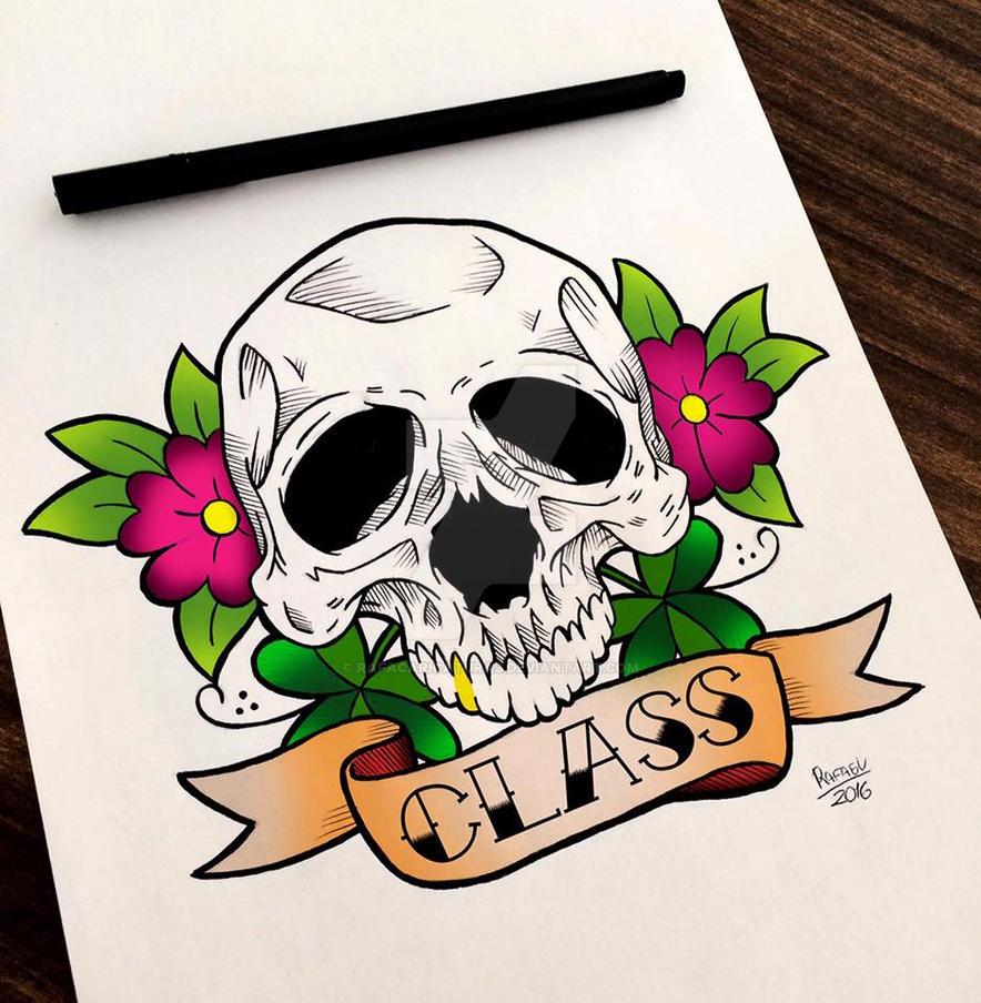 Skull Tattoo by rafacaricaturas on DeviantArt