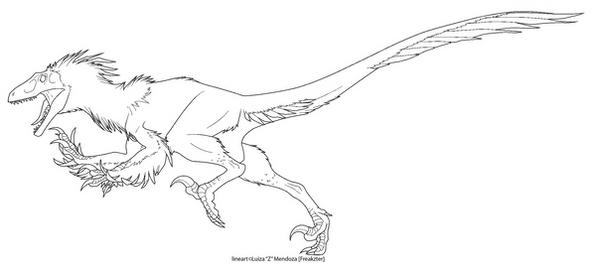 Utahraptor lines by freakzter freebies on deviantart for Utahraptor coloring page