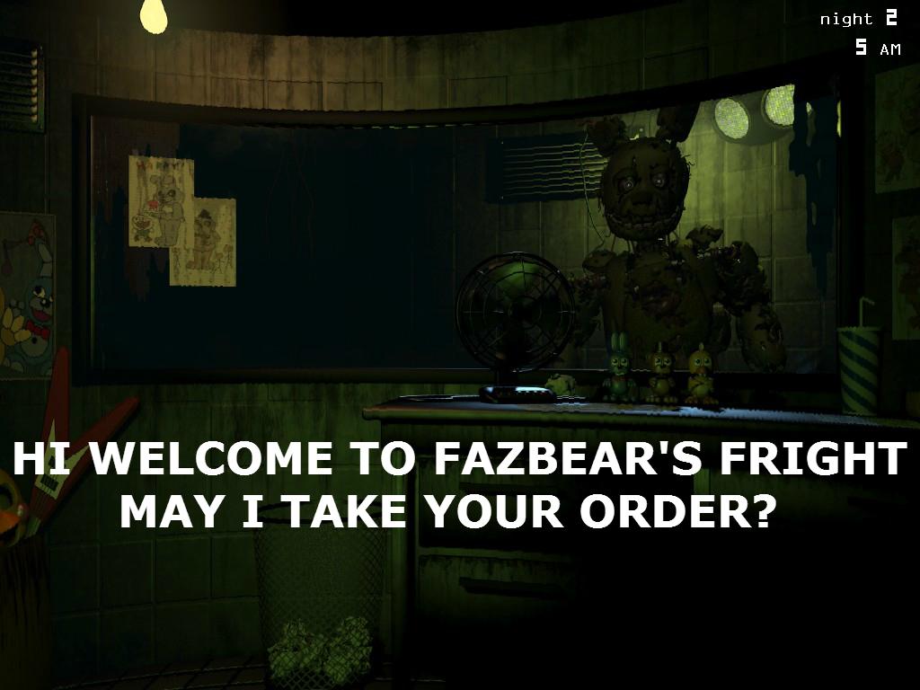 FNAF 3 Order up by stunter101