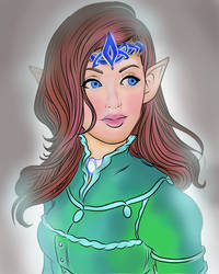 Lines  The Elven Queen By Miserie-d6p93ef- by iana88