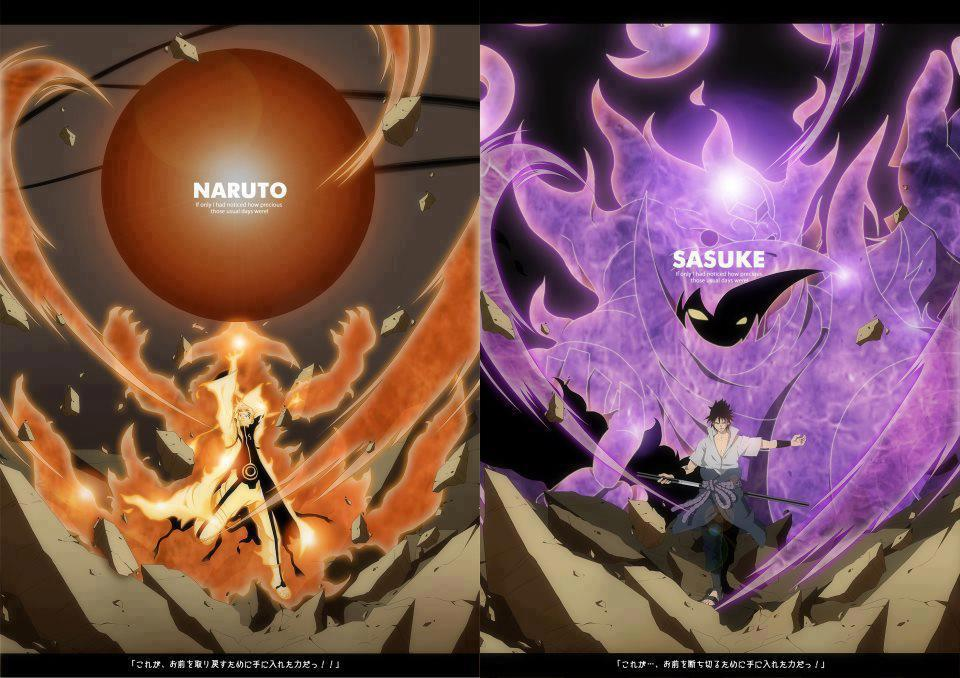 Bijuu Mode Vs Susanoo Naruto vs Sasuke by Devil269