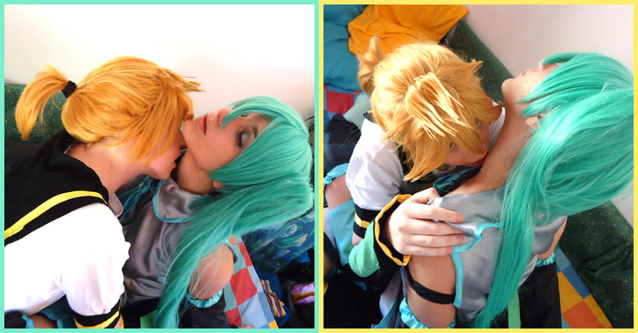 hatsune miku and len kiss wwwimgkidcom the image kid