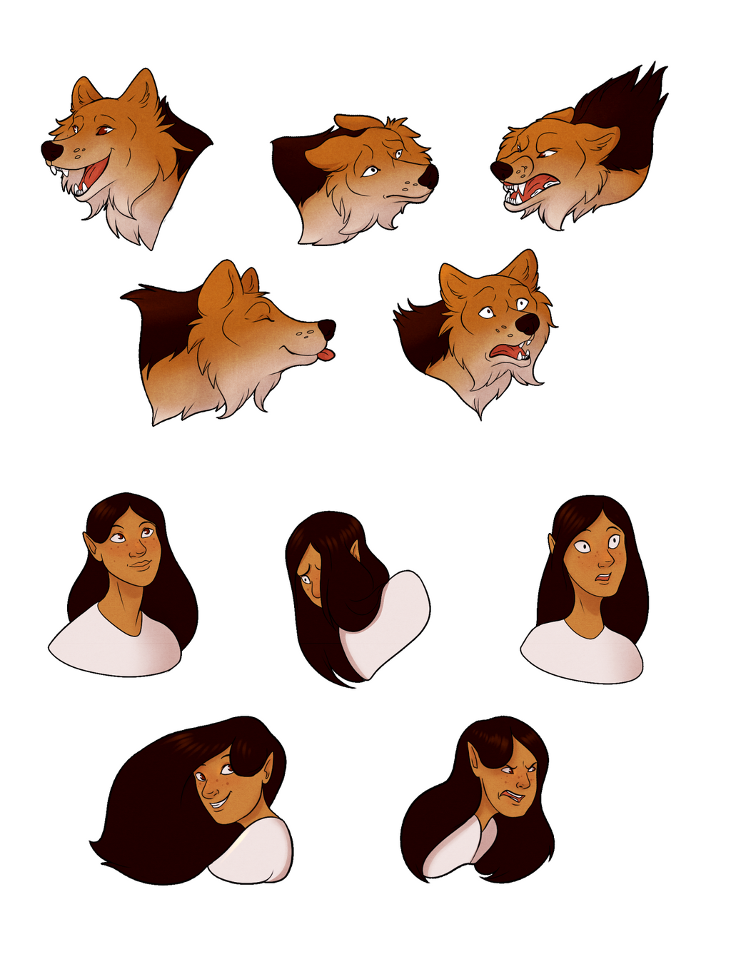 Expression Sheet - Tia by StormWhiskers
