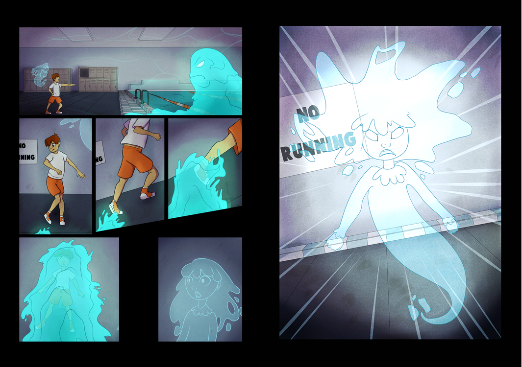 Peter and the Ghost test pages by StormWhiskers