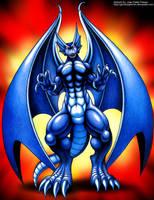 Blue Dragon by GeminiSaint-FM