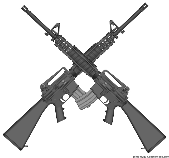 Font Crossed Swords Clipart - Clipart Suggest  Crossed Guns M4
