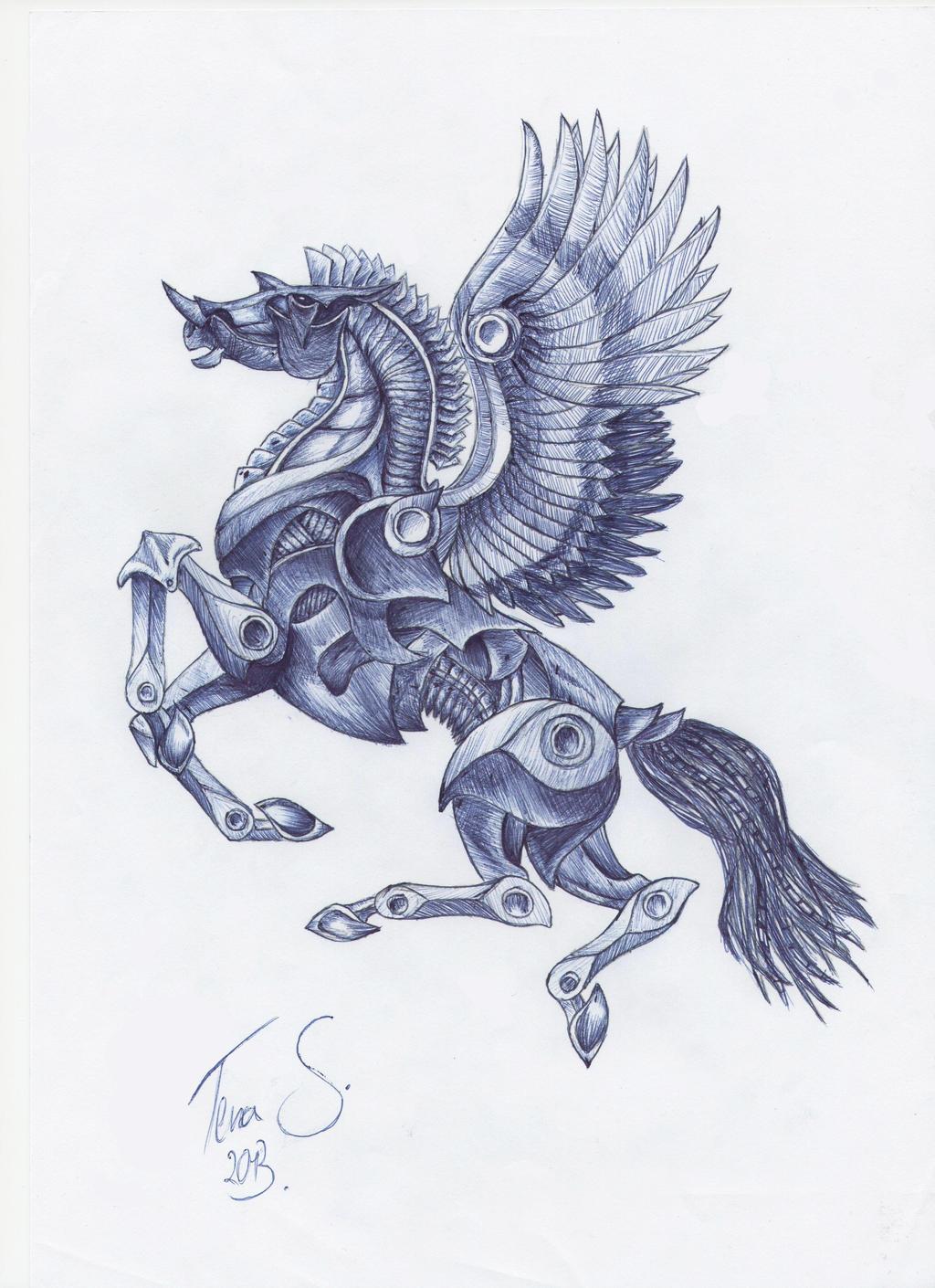 Uncategorized Drawings Of Pegasus pegasus drawing by dotz art on deviantart art