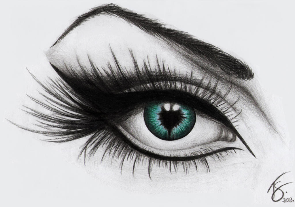 An eye drawing by dotz art