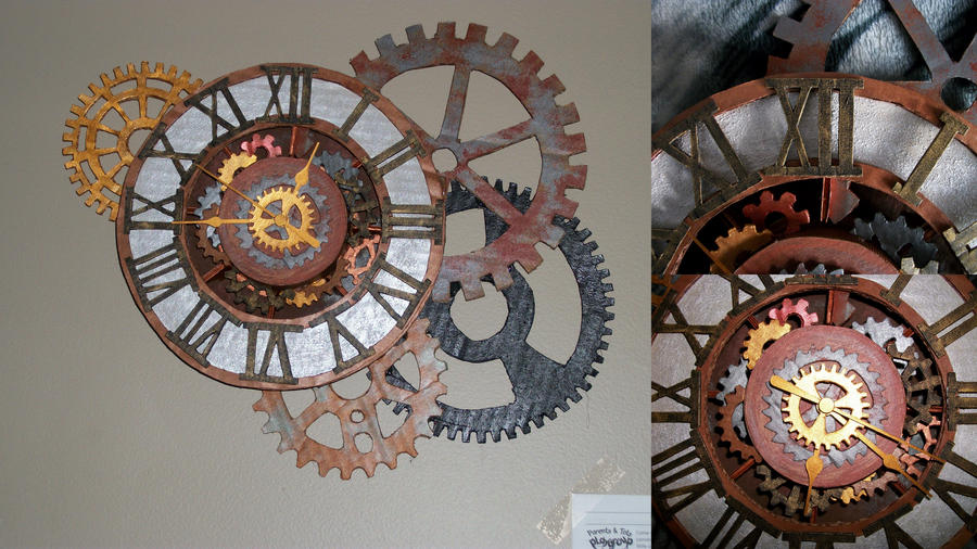 Gear Wall Clock by SunshineLOLLY on DeviantArt