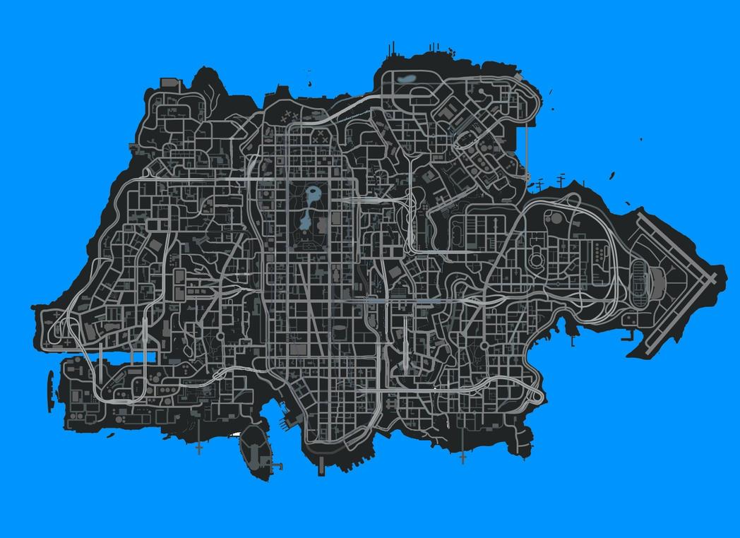 GTA V city size aprox by RMA7CA on DeviantArt