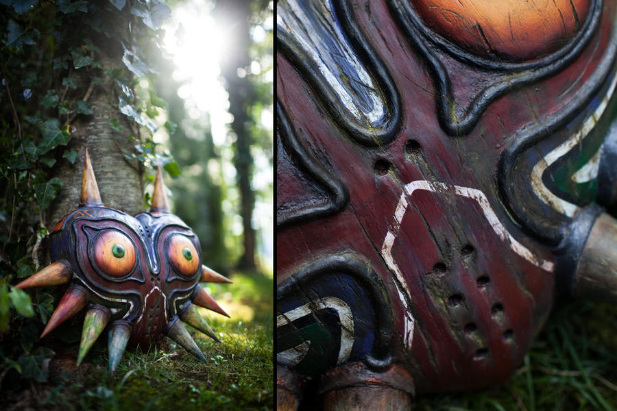 Majora's Mask - Wooden Replica by supermaRiio on DeviantArt