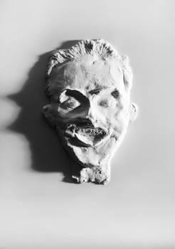 paper sculpt of a guy