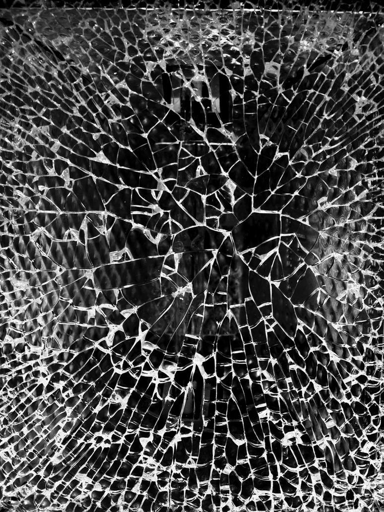 Glass Single Crack Broken Glass Texture b...