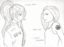 June and Tris meet by chrysalisgrey