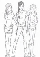 Three girls by chrysalisgrey
