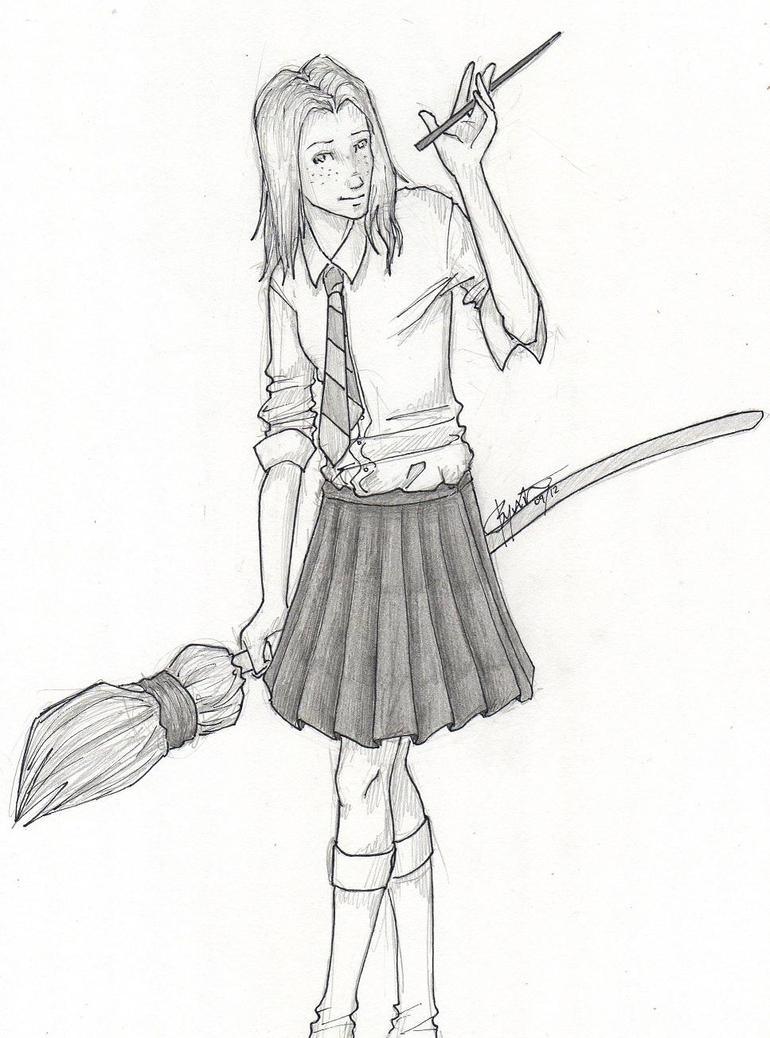 Ginny Weasley By Chrysalisgrey On Deviantart Ginny Weasley Coloring Pages