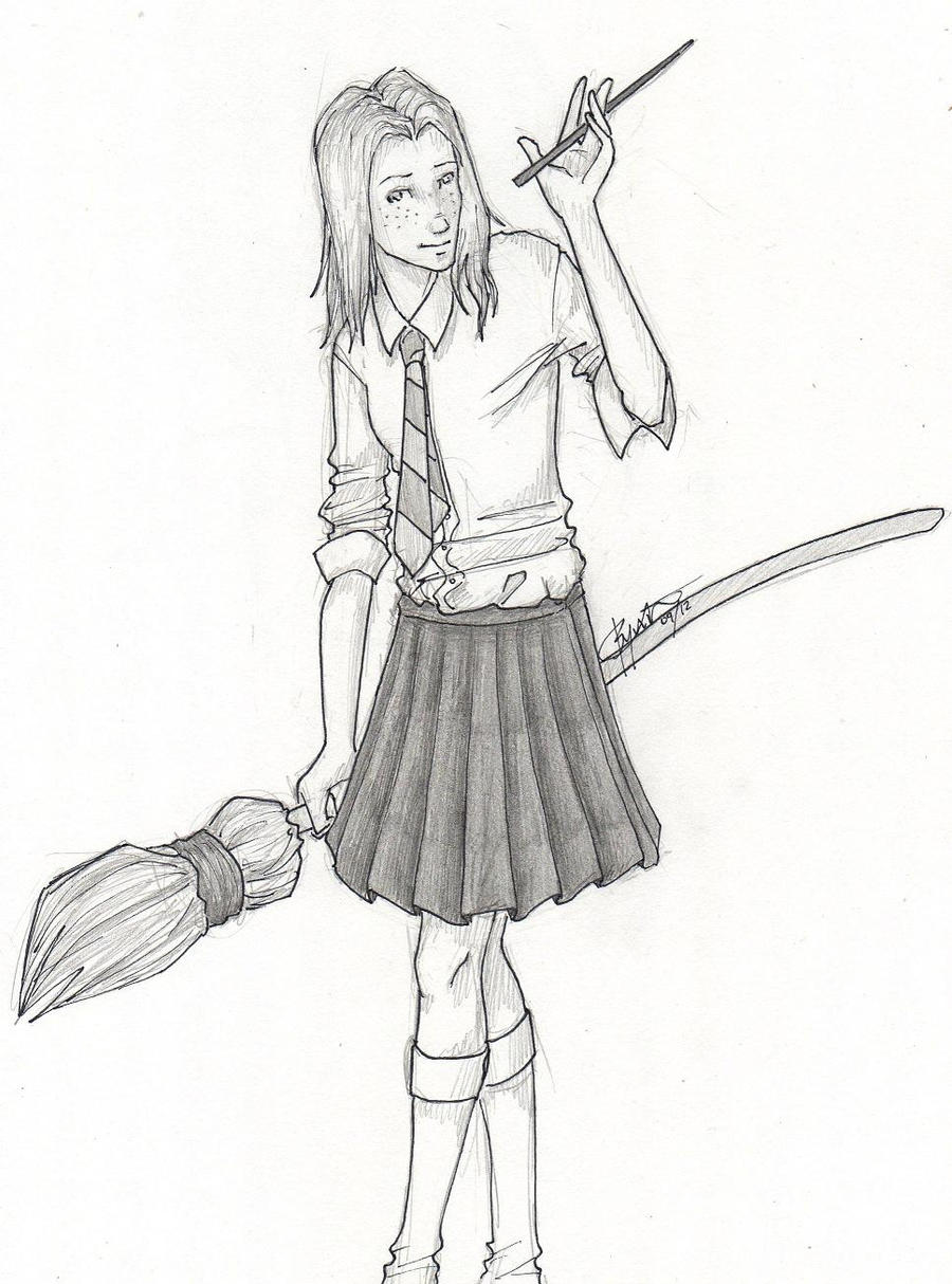Harry Potter And Ginny Drawings Thea Supports Harry And Ginny By - Ginny-weasley-coloring-pages