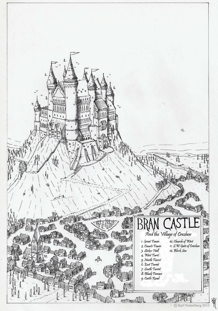 Private illustration map bran castle 2014 by for Final fortress blueprints
