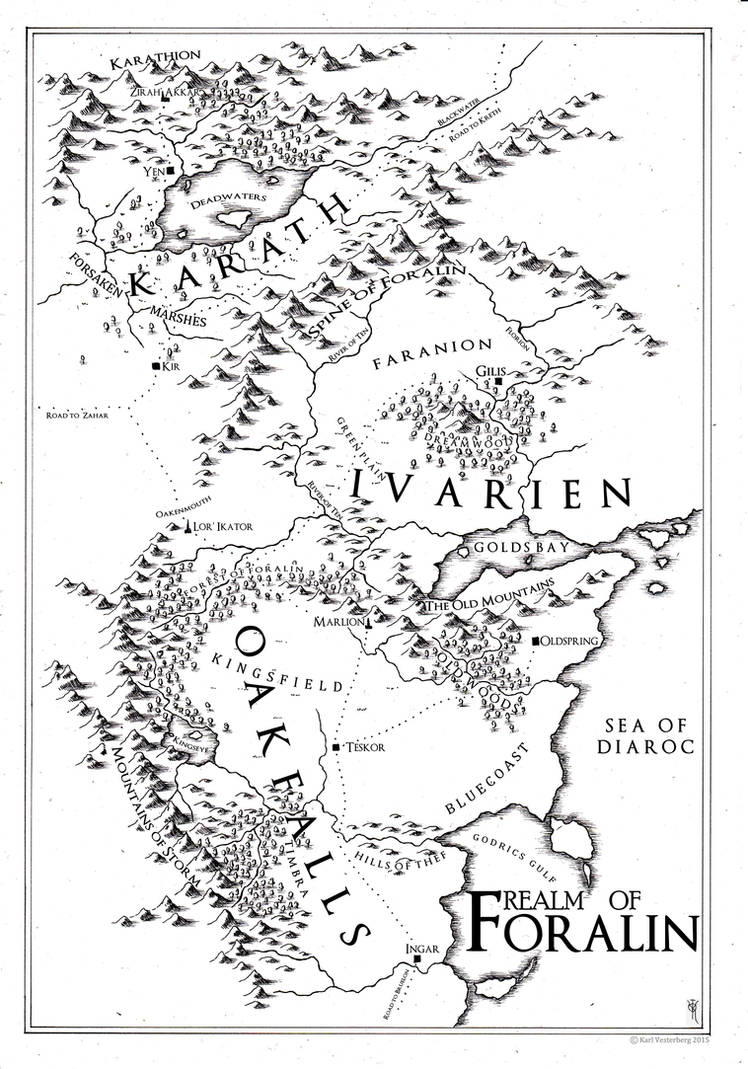 Private Map: the realm of Foralin 2015 by Traditionalmaps