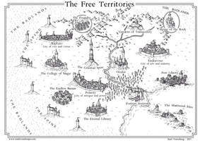 Commission: the Free Territories 2015 by Traditionalmaps
