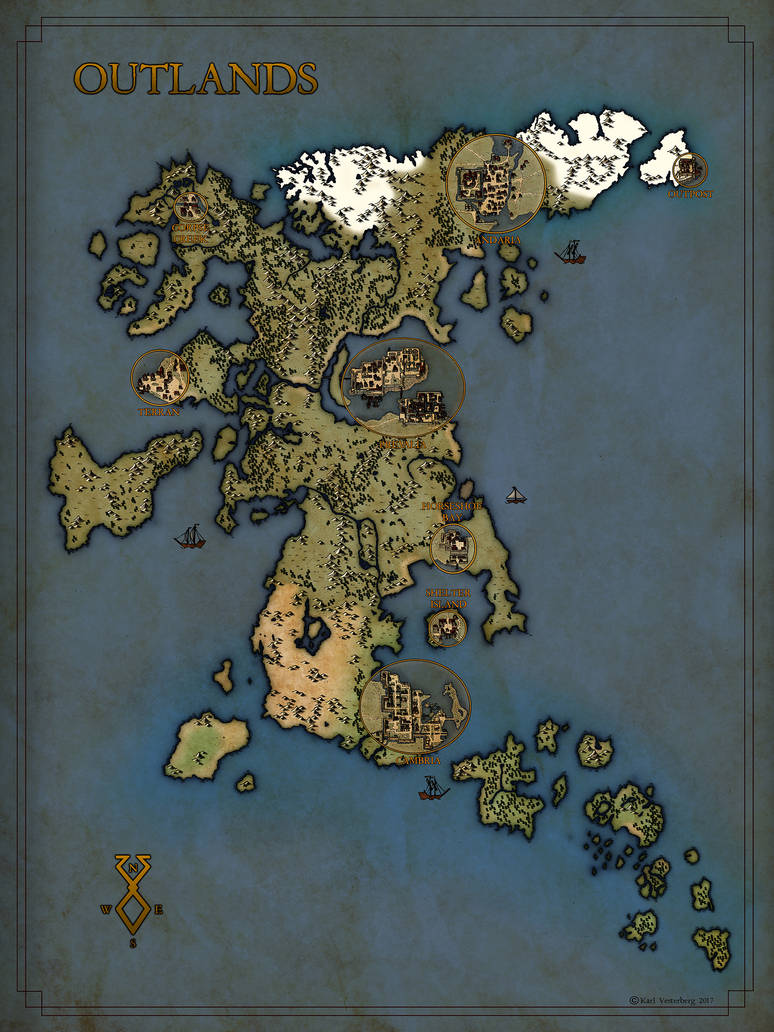 Commission 2017: Outlands by Traditionalmaps on DeviantArt