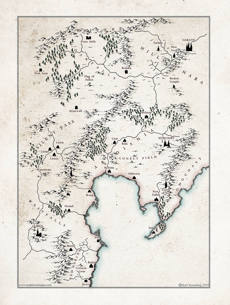 A fantasy Map Project by Traditionalmaps