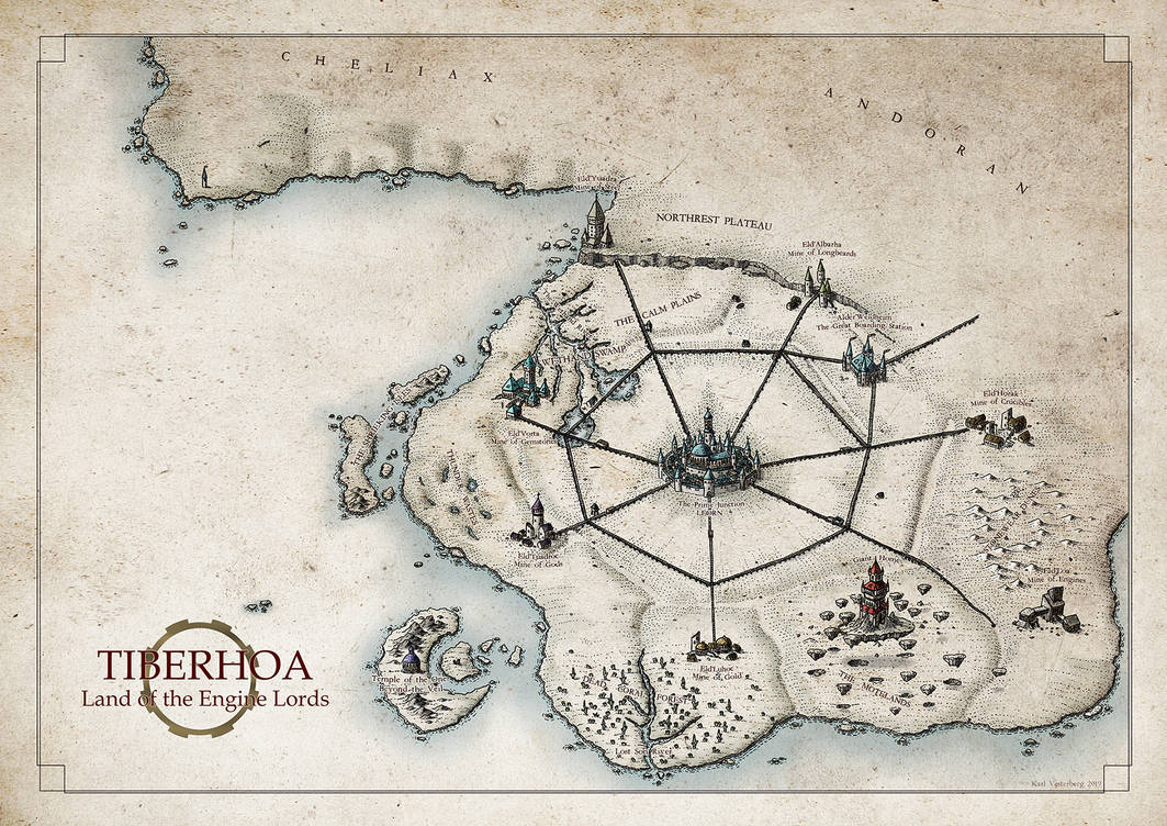 Tiberhoa: Land of the Engine Lords by Traditionalmaps