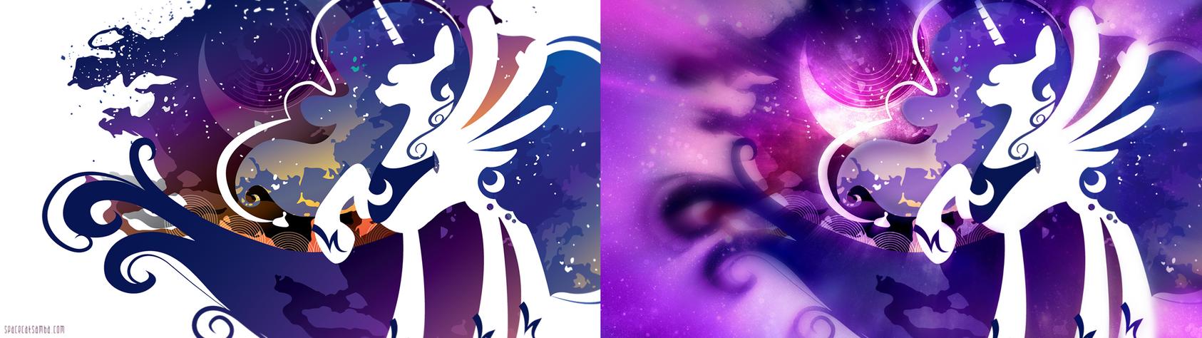 Princess Luna Light Silhouette Wall Edited by ConnieTheCasanova