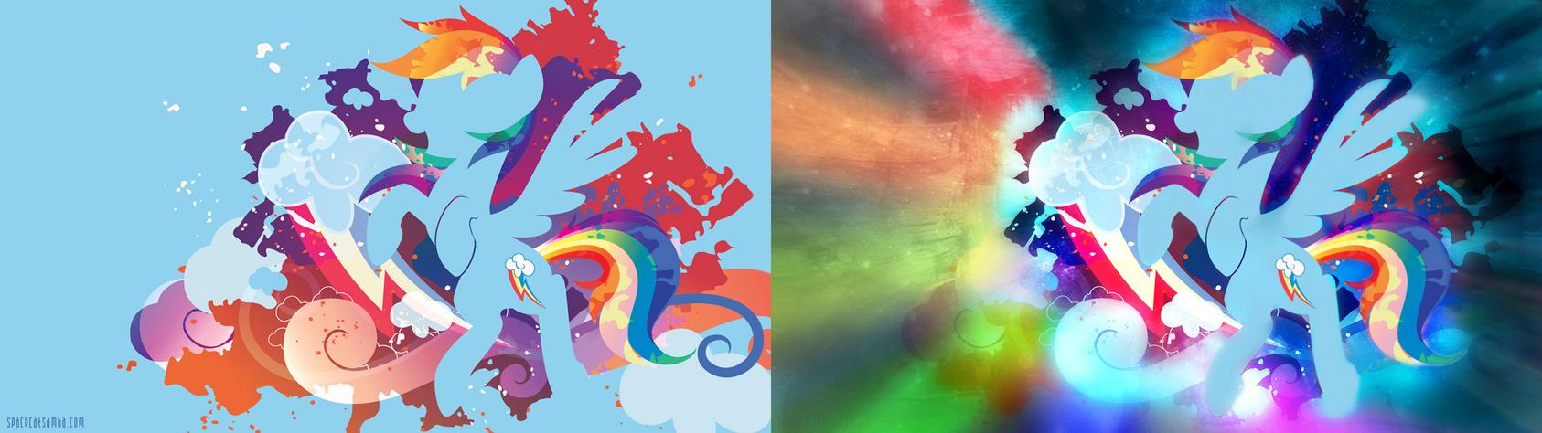 Rainbow Dash Light Silhouette Wall Edited by ConnieTheCasanova