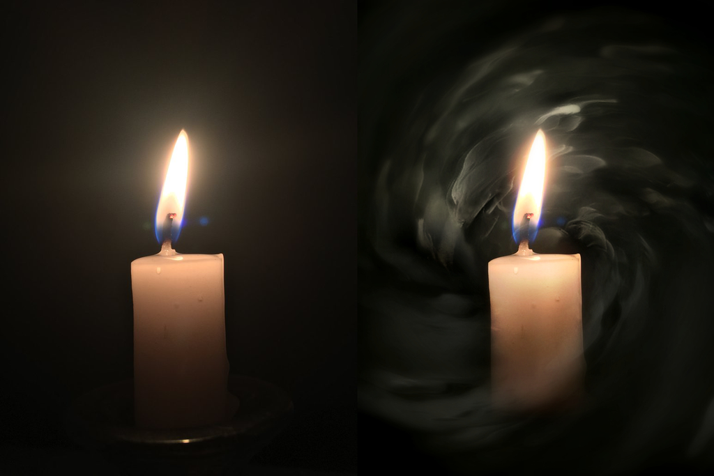 Spooky Candle (Photo Edit) by ConnieTheCasanova