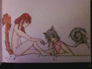 Demon Cat and Dog Furry by RaiStone
