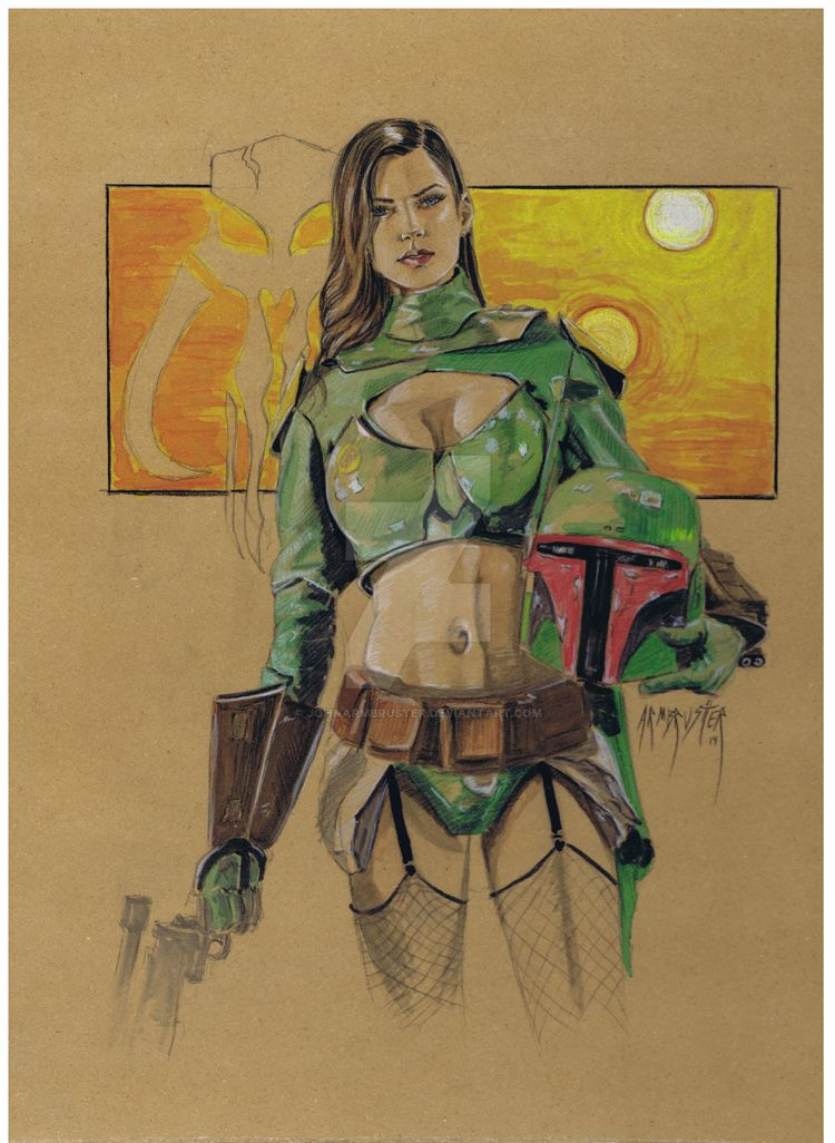 Lady Fett by JohnArmbruster