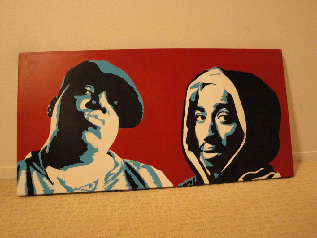 Biggie and Tupac by DOMWALLFLOWER on deviantART
