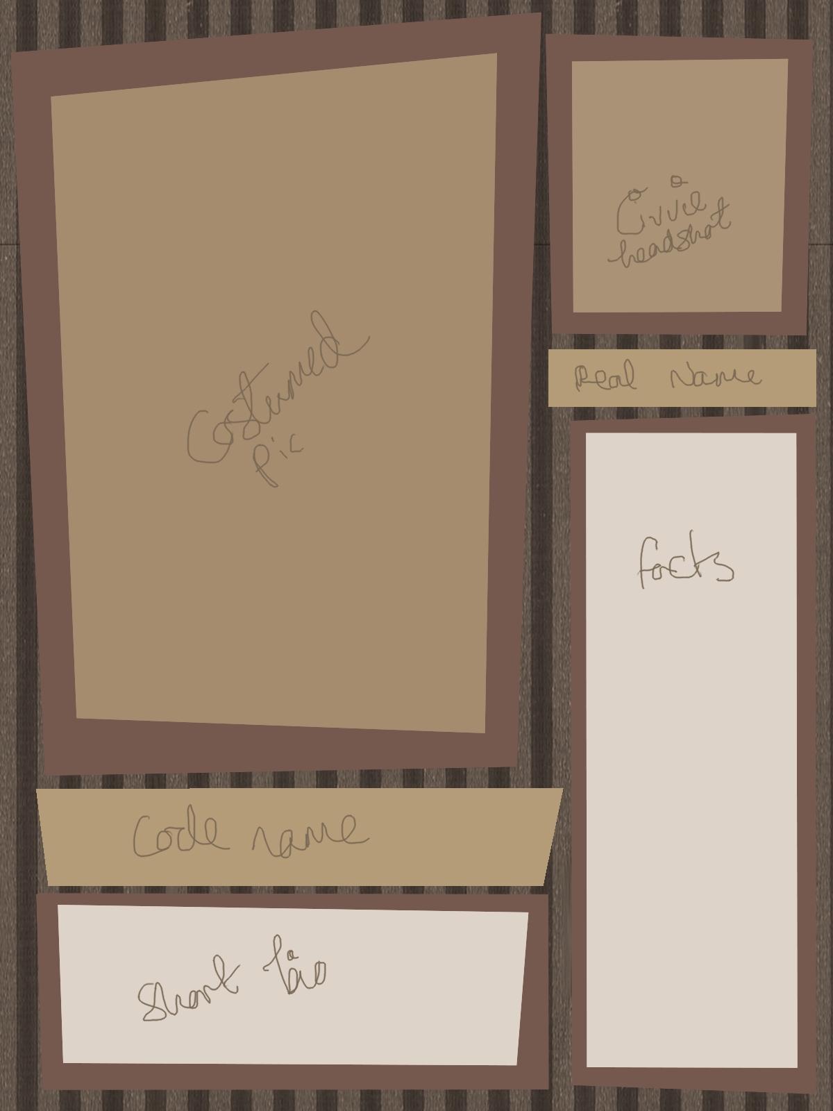 Blank Batman Character Sheet by SnowFright