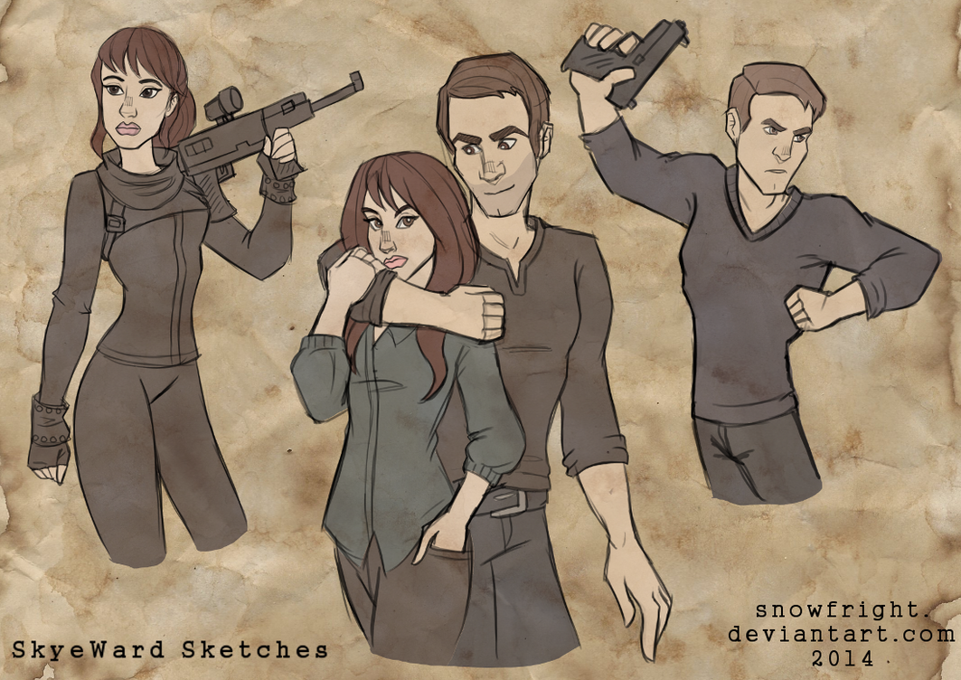 AOS Evolution : SkyeWard Sketches by SnowFright