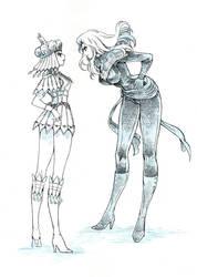 Captain Marvel vs Sailor Galaxia