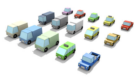 Lowpoly Vehicles by dpplatinum