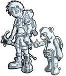 Enviro Panda and Boy