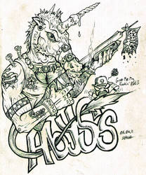 Abyss The Cockheaded Unicorn by Morde