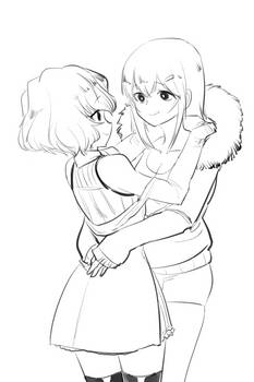 Cicilia and Sayumi