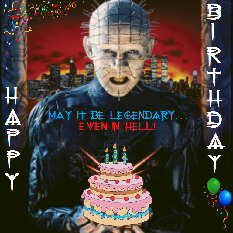 Hellraiser Birthday Greeting By VelvetKevorkian333 On