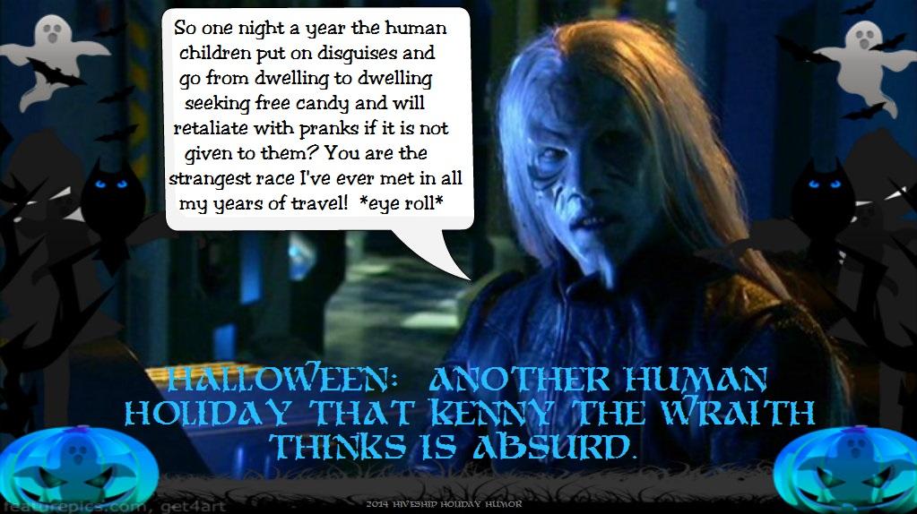 Wraith Holiday Greeting (Halloween):  Kenny by VelvetKevorkian333