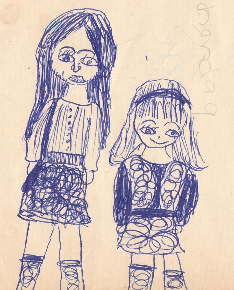 Little Girl School Art by VelvetKevorkian333