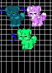 [ADOPT] - Neon Fluffs - 150 points each!