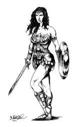 Wonder Woman by barefootmatthew