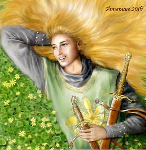 Glorfindel, Lord of the Golden Flower by AlystraeaArt