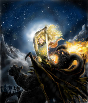 Glorfindel battles the Balrog