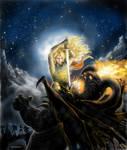 Glorfindel battles the Balrog